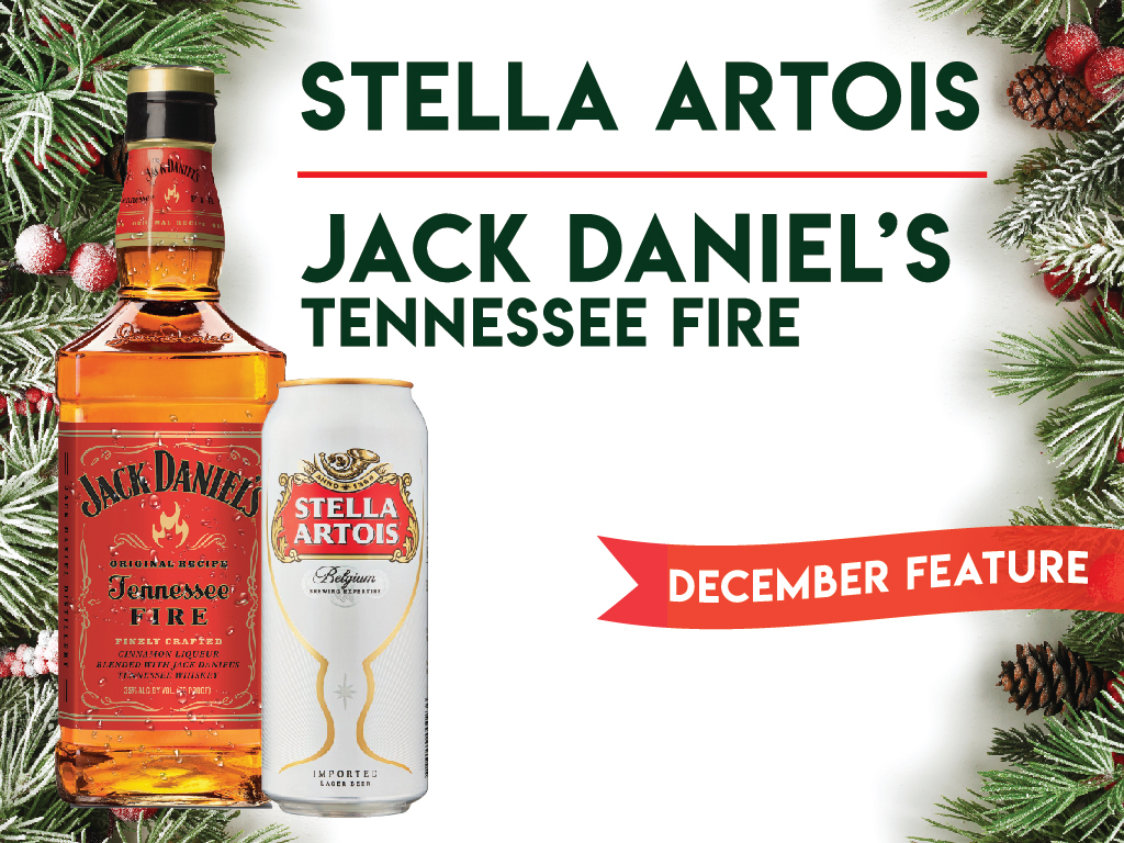 December Drink Features: Stella Artois and Jack Daniel's Tennessee fire